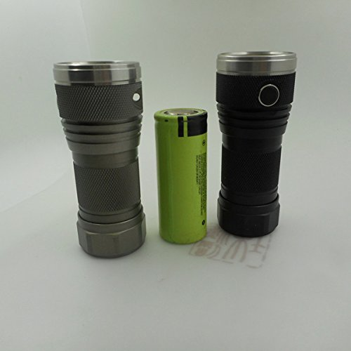 DQG Tiny 26650 3th 7x XP-G2 NW 2500LM 4modes EDC LED Flashlight (Color Grey) by LEEPRA (Image #5)