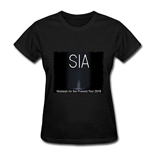 Best Sale Sia Nostalgic For The Present Tour 2016 Tee Shirt For Women