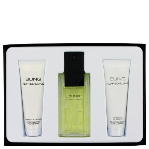 Alfred SUNG by Alfred Sung for Women. Gift Set -- 3.4 oz Eau De Toilette Spray + 2.5 oz Body Lotion + 2.5 oz Shower Gel