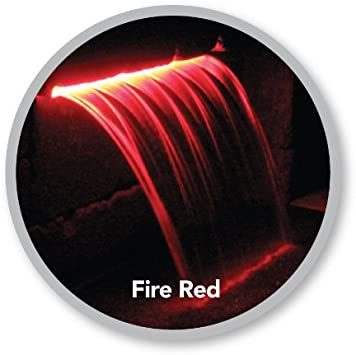 Atlantic Water Gardens Lighted Waterfall Spillway 12-inch Fire Red Colorfalls
