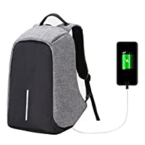 Slim Laptop Backpack, ULT-unite Multipurpose Travel anti theft backpack with USB Charging Port for College,Business,Travel