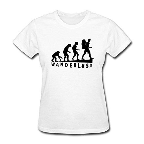 WSB Women's T-shirts Wanderlust Evolution White S