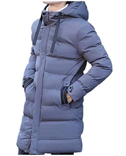 Howme-Men Brumal with Zips Pocket Hoodie Down Puffer Warm Parka Jacket Grey