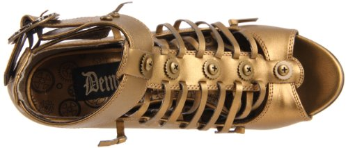 Demonia Steampunk Pumps TESLA-05 - Bronze 36 EU