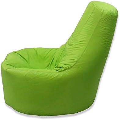 Puf MaxiBean relleno de judías con respaldo para adultos, tamaño grande XXL, para juegos y actividades en interiores y exteriores, color verde lima, ...