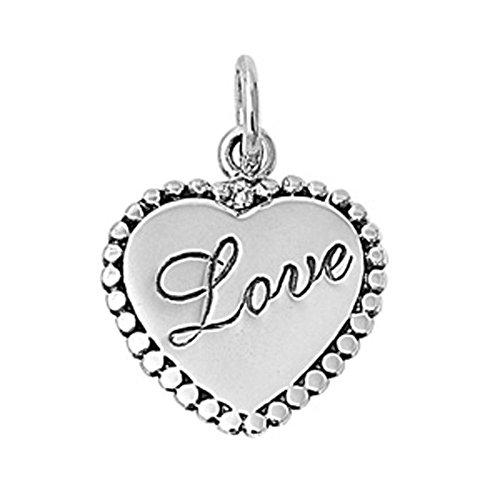 Love Heart Pendant .925 Sterling Silver Charm - Silver Jewelry Accessories Key Chain Bracelet Necklace Pendants