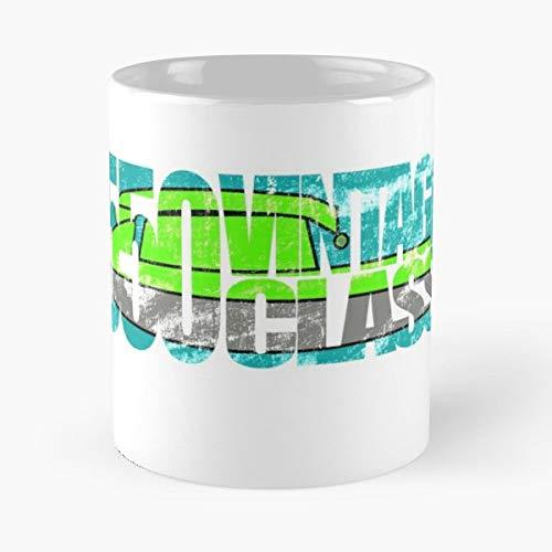 Jet Ski Racing Stand Up Standup Vintage Class - Best Gift Ceramic Coffee Mugs 11 Oz (Jet Ski Mug)