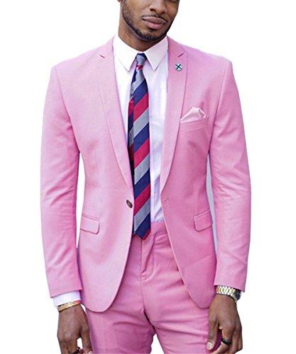 Springplus Mens Suit 2 Pieces Casual Wedding Tuxedos Blazer ...