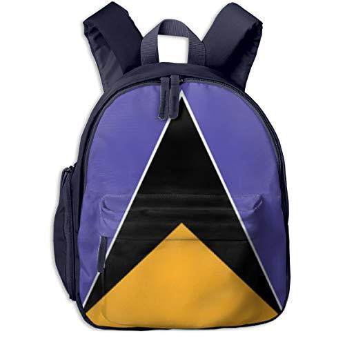 Saint Lucia Flag Kids Backpack School Children Book Bag Daypack For Boys Girls]()