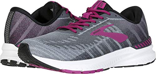 (Brooks Women's Ravenna 10 Ebony/Black/Wild Aster 8 Wide US)