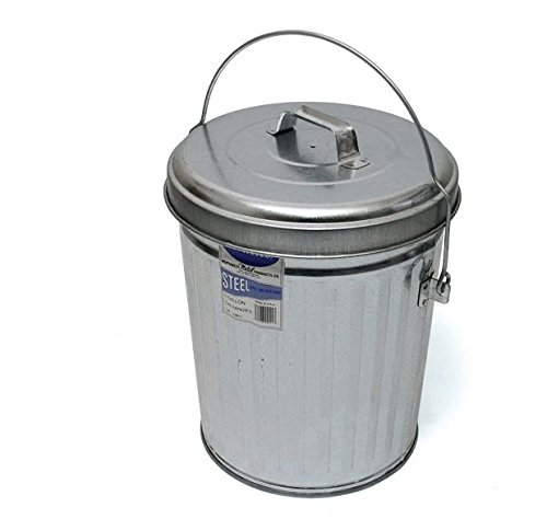 In The Ditch ITD1086 4 gal Galvanized Trash Can with Lid by In The Ditch