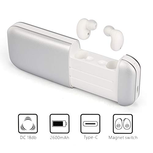 (Wireless Earbuds, 3D Stereo Sound Bluetooth Earphone - Wireless Waterproof 5.0 Mini in Ear Headphones with Charging Box for iOS Android Cell Phones)
