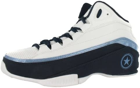 white and light blue basketball shoes