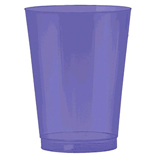 Amscan 350363.106 Disposable BPP Plastic Cup, One Size, Purple