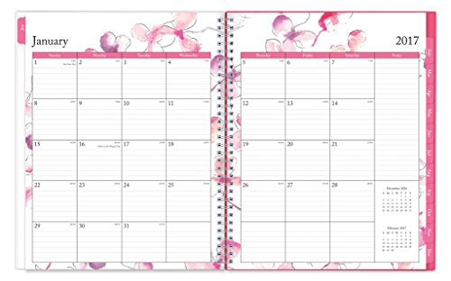 blue sky 2017 weekly monthly planner wire o binding 8 5 x 11