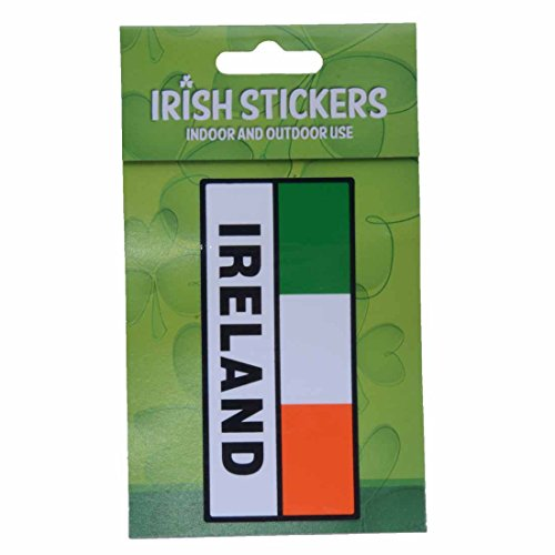 Ireland Rectangle St. Patrick's Day Tri Colour Flag with Sticker