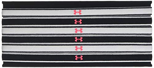 Under Armour Girls Mini Headbands – 6 Pack ,White (104)/Penta Pink, One Size