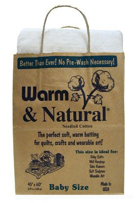 The Warm Company Warm & Natural Cotton Batting Baby/Crib Size