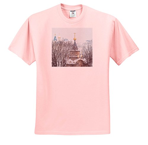 Alexis Photography - Moscow City - Moscow Winter. Chapel Of The Sovereign Icon Of The Theotokos - T-Shirts - Youth Light-Pink-T-Shirt XS(2-4) (TS_267151_43)