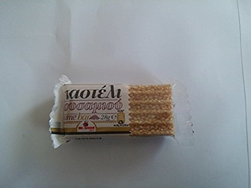 Greek Sesame Snack Bars (Mini Pasteli) 4 Sesame Thin Leaves 35g 1.23 Oz X 3