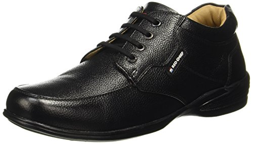 Red Chief Black Genuine Leather Outdoor Casual Shoe for Men (RC3506