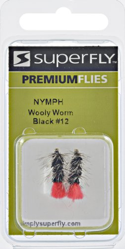 Wooly Worm - STREAMER-WOOLY WORM-BLACK-#12