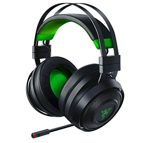 Razer Nari Ultimate for Xbox One Wireless 7.1 Surround Sound Gaming Headset: Hypersense Haptic Feedback - Auto-Adjust Headband - Green Lighting - Retractable Mic - For Xbox One - Black/Green