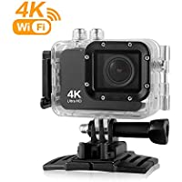 Action Camera,4K WIFI Sports Camera 16MP Ultra HD 60M Waterproof DV Camcorder 150 Degree Wide Angle 2.0 LCD Built-in Gyro with Accessories Kits and Waterproof Case