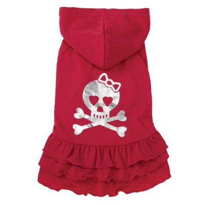 East Side Collection ZM3901 10 22 Rock Star Ruffle Dress for Dogs, X-Small, , Skull]()