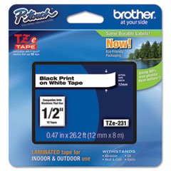 Brother 917917 Black on White Tape f/ PT330, 350, 520, 530, 540, 550