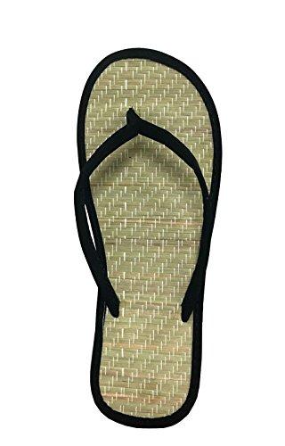 Women's Bamboo Sandal Flip Flops Flats Beach Summer Shoe Comfort Clearance-1212(9 Black) - Bamboo Flip Flop Sandals