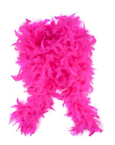 WeGlow International WGI Feather Boa, Hot Pink, Hot -
