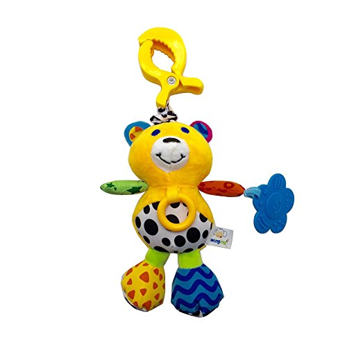 Wingingkids Baby Stroller Toys Hanging Toys for Crib 0-3 Year Old Baby Rattles Toy Gift Teether with Bell Cute Bear