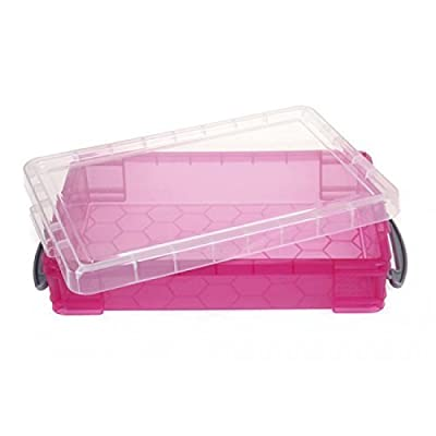 Small Portable Sand Tray with Lid - Pink: Toys & Games