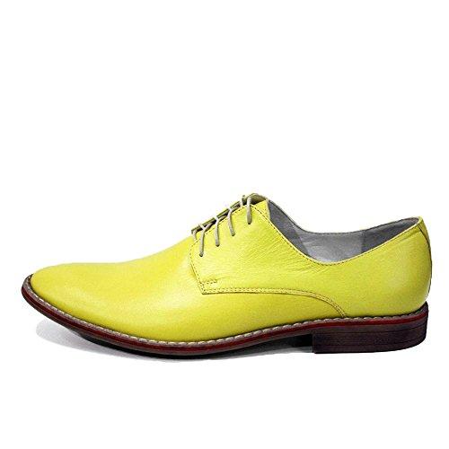 PeppeShoes Modello Mazara - Cuero Italiano Hecho A Mano Hombre Piel Oro Zapatos Vestir Oxfords - Cuero Cuero Suave - Encaje