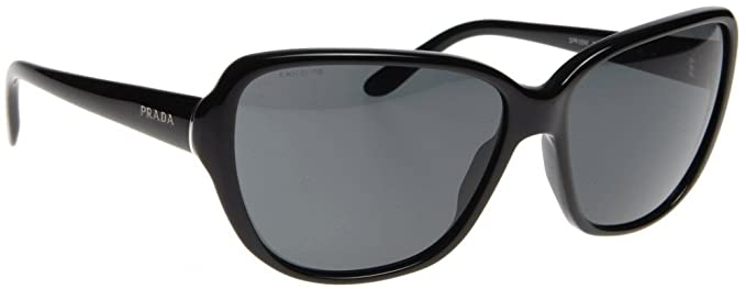 Amazon.com: Prada anteojos de sol SPR 05 M 1 AB-1 A1 Negro ...