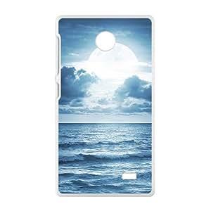 Bright Moon White Phone Case for Nokia Lumia X