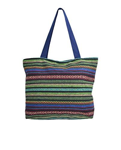 TATTOPANI Borsa da spiaggia, Multicolore (Multicolore) - TP-CH-BAG-10