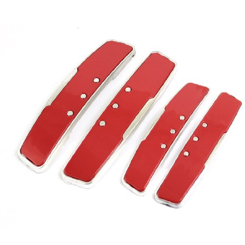 uxcell a13042500ux0058 4pcs Beads Detail Red Self Adhesive Sticker Door Guard Protector Car, 4 Pack