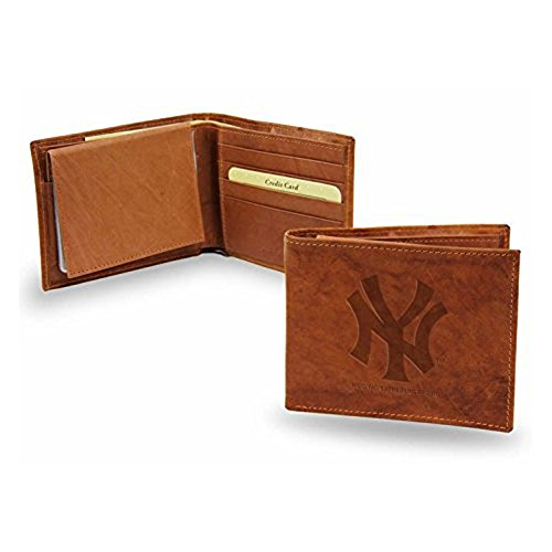 New York Yankees Official MLB Leather Billfold Wallet - New York Yankees Leather Picture