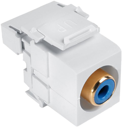 Leviton 40735-RWR QuickPort RCA 110-Type Jack, Red and White (Quickport Snap Rca 110)