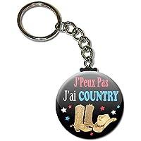 J'peux pas J'ai Country (danse) Porte Clés Chaînette 3,8 centimètres Idée Cadeau Accessoire Humour Mytho Excuse
