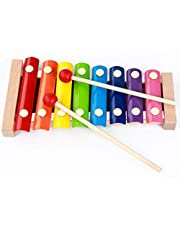 Eight-tone Xylophone - Children's Wooden Toys Children's early Childhood Teaching Xylophone Percussion Instruments