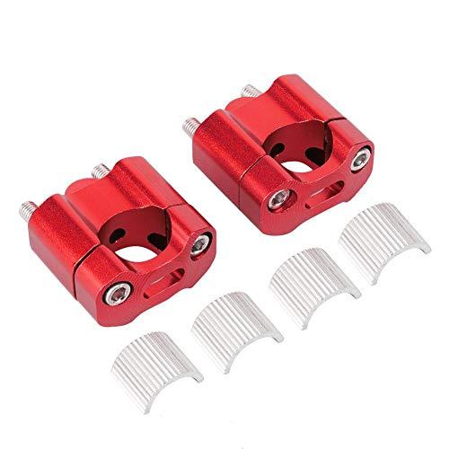 Stuur Riser, Paar 22mm/28mm Motorfiets Stuur Vet Bar Riser Mount Klemmen Adapter CNC Aluminium Legering (rood)
