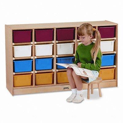 Jonti-Craft 0421JC 20 Cubbie-Tray Mobile Storage with Colored Trays