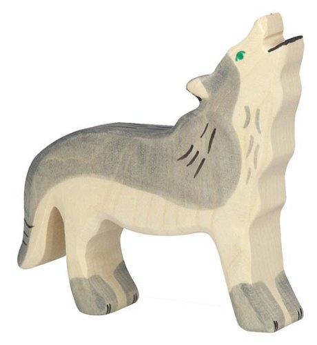 Holztiger Wolf Crying Toy Figure C /& J Direct GmbH /& Co KG 80109