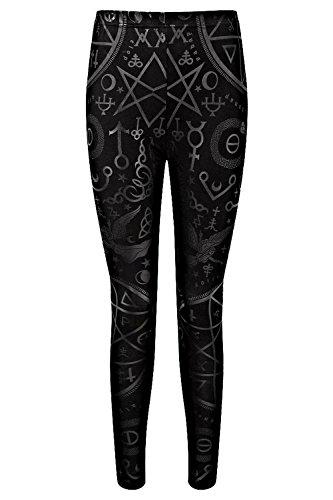 Killstar Gothic Witch Illuminati Witchcraft Spells Symbols Cult Leggings Pants  L
