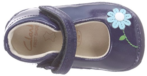 Clarks Little Jam Mädchen Sneakers Blau (Navy Patent)
