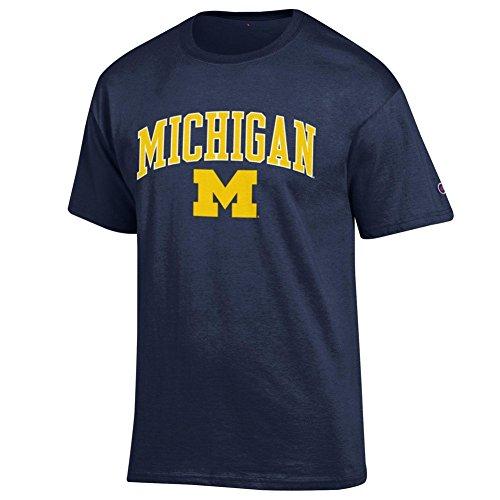 Elite Fan Shop Michigan Wolverines Tshirt Varsity Navy - XL - Navy Yellow