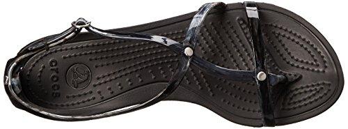 Vraiment White Crocs Sandal Sexi Black marbré Black Tdnqgnw4